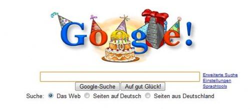 Google wird 10!