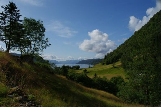 zauberhafter Blick auf den Fjord
