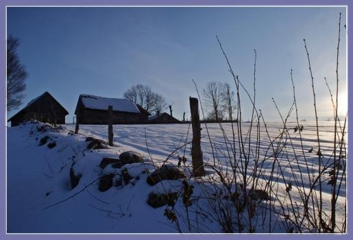 Wintersonne in Äskhults by