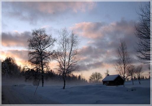 Nebel über dem Schnee...
