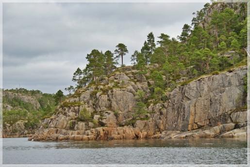 Felswand im Fjord