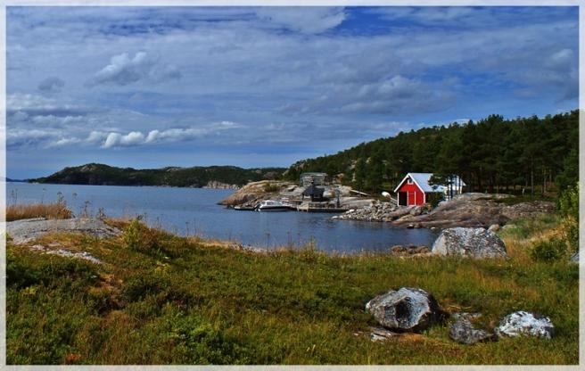 Bucht im Fjord